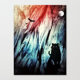 Snow Tiger Space Vision Canvas Print