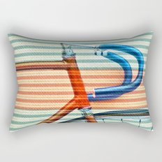 Standard Striped Bike Rectangular Pillow