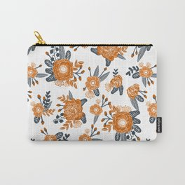 Texas orange and white university texans longhorns college football sports florals Carry-All Pouch