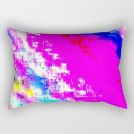 Glitchy Pinkness Rectangular Pillow