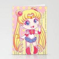 sailor moon Stationery Cards featuring Sailor Moon by strawberryquiche