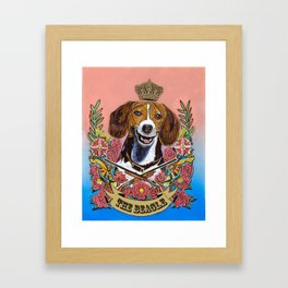 The Regal Beagle Framed Art Print