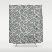 square Shower Curtains featuring square by CJ Beegle