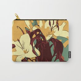 Spring is coming. Abstract vector image of beautiful lilies Carry-All Pouch
