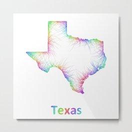Rainbow Texas map Metal Print