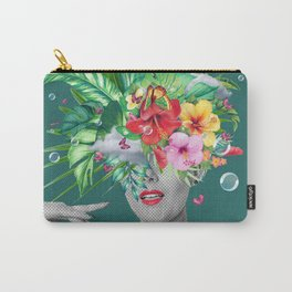 portriat floral Carry-All Pouch