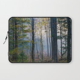 Mystic Forest - Early Morning Glow in Smoky Mountains Laptop Sleeve