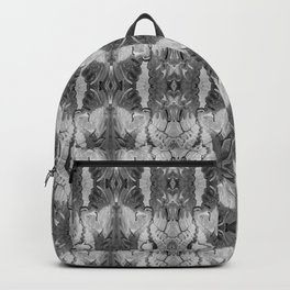 B&W Open Your Eyes Patterned Image Backpack