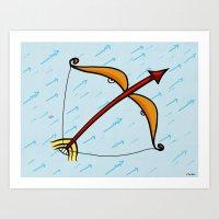 sagittarius Art Prints featuring Sagittarius by Giuseppe Lentini
