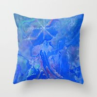 wizard Throw Pillows featuring Wizard by InSight Out
