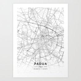 Padua, Italy - Light Map Art Print