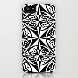 Think Tiled - Black White iPhone Case