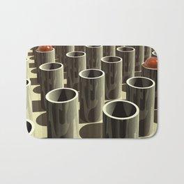 Stockyard of Cylinders Bath Mat