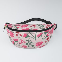 Pink Poppies Seamless Illustration Fanny Pack