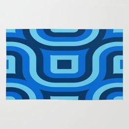 Blue Truchet Pattern Rug