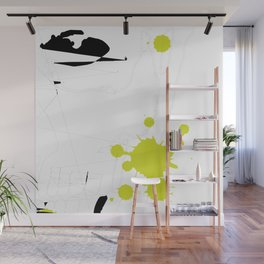 Lime Green Abstract Rick Genest Wall Mural