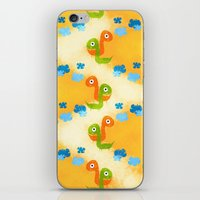 dino iPhone & iPod Skins featuring Dino by Elettra