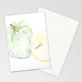 Watercolor Heirloom Pumpkins Stationery Cards