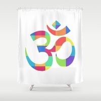 "om Shower Curtains featuring Om by ""LSC"""