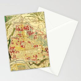 Vintage Map of Vienna Austria (1710) Stationery Cards