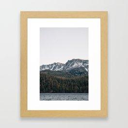 Last light in the Sierra Framed Art Print
