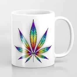 Cannabis Rainbow Leaf Coffee Mug