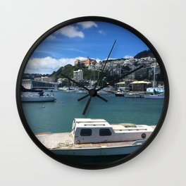 Old Wooden Boat Wall Clock