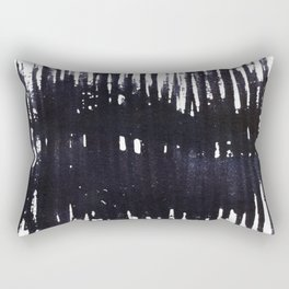 Abstract painted ink Lines Rectangular Pillow