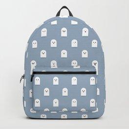 Cute Ghost Pattern - Blue Backpack