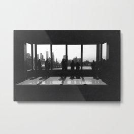 New York City Skyline Window Metal Print