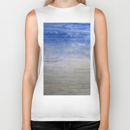 """""""1236-1 abstract beach"""" Biker Tank"""
