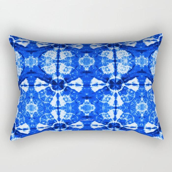 It's Bloomin' Blue Rectangular Pillow