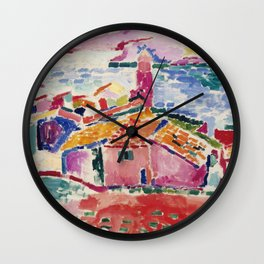 View of Collioure - Henri Matisse - Exhibition Poster Wall Clock