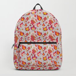 Autumn leaves and roses pattern Backpack