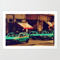 Moroccan taxi Art Print
