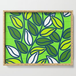 Modern Green Leaves Serving Tray
