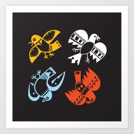 Hopi Four Directions - Tsiro (Bird) Art Print