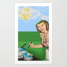Mrs. Summer Art Print