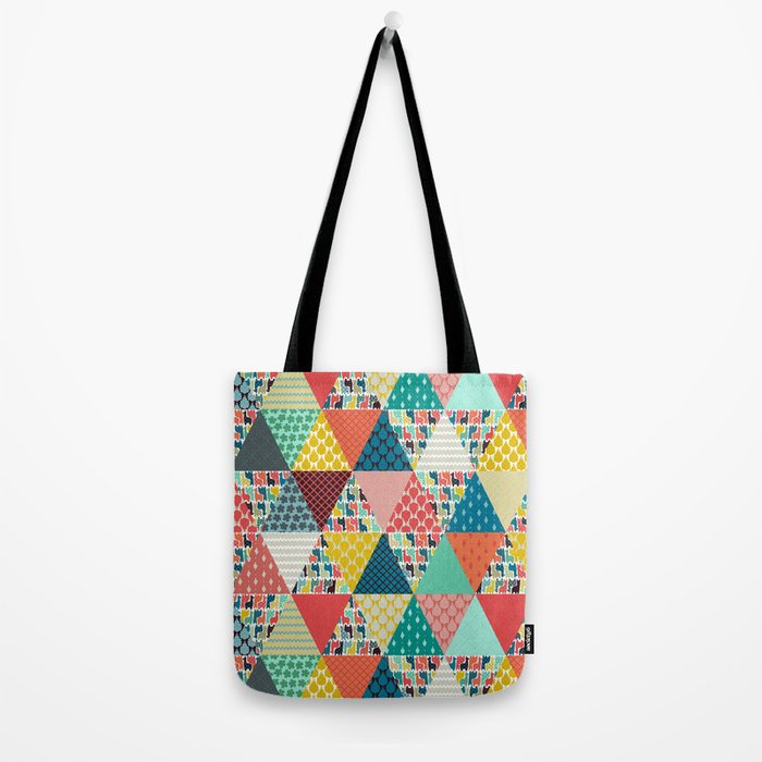 llama geo triangles Tote Bag
