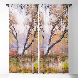 Scottish forest watercolor painting #9 Blackout Curtain