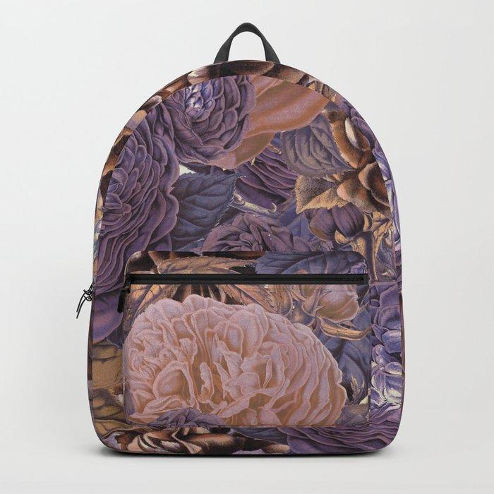 Vintage & Shabby-chic - floral purple roses flowers rose flower Backpack