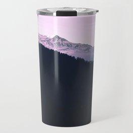 Mountain Forest Sky Pink Pastel Travel Mug