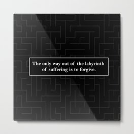 Labyrinth Quote - Looking for Alaska Metal Print