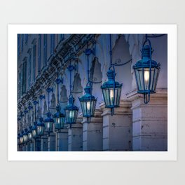 Arches and Lamps in Greece Art Print