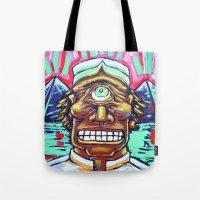 cyclops Tote Bags featuring CYCLOPS by Jamil Zakaria Keyani