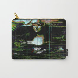 Mona Lisa Glitch Carry-All Pouch