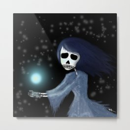Noche de las almas que pasan (Night of the passing souls) Metal Print