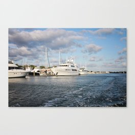 Beaufort, NC docks Canvas Print