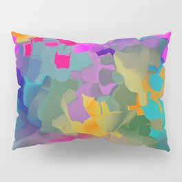 abstract floral with violet Pillow Sham