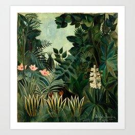The Equatorial Jungle - Henri Rousseau Art Print
